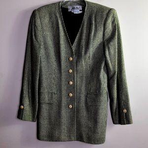 CARLISLE Green & Beige checkered blazer SIZE 4